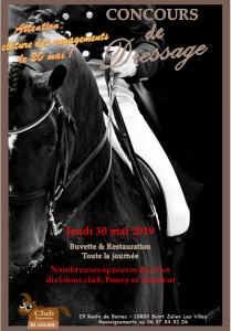 CONCOURS DE DRESSAGE CLUB ET AMATEUR