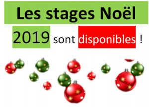 Les stages de Noël 2019